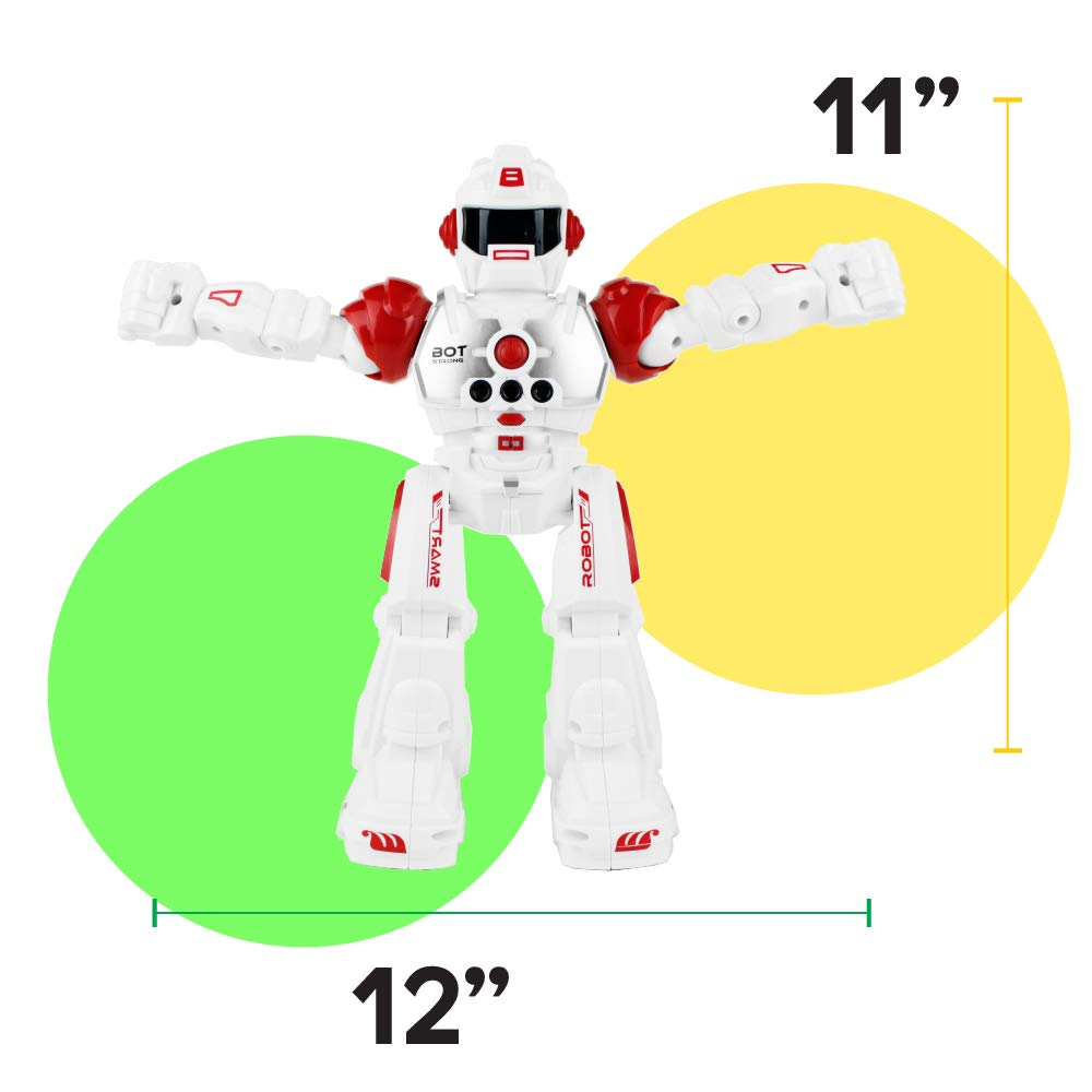 Boley Bot Strong Remote Controlled Robot Toy Gesture Control - Dancing, Singing, Walking Talking Robot Friend Kids - Red by Boley (Image #5)