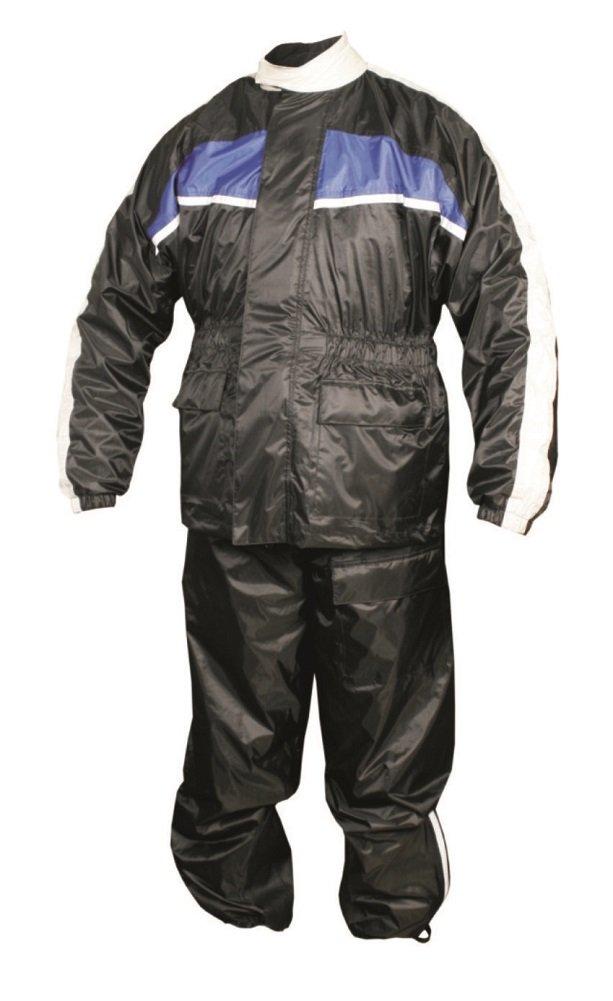Men's AL2097 Rain suit 5X-Large Black/Blue/White