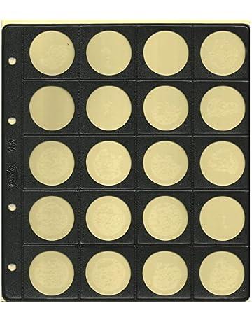 Pardo-Pardo 752-6 Fundas Monedas Alma Opaca Negra 20 Alojamientos modelo 75200