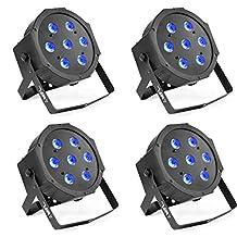 MFL 7X10W RGBW LED Par Lights DMX Par Can Light Wash Effect for Stage DJ Lighting Party Wedding Church