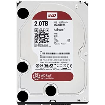 WD 2 TB NAS Hard Drive - Red (Refurbished)