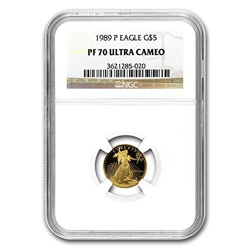 (1989 P 1/10 oz Proof Gold American Eagle PF-70 NGC Gold PF-70 NGC)