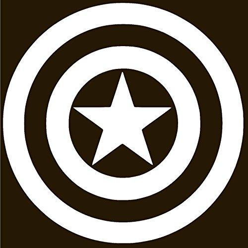 CAPTAIN AMERICA SHIELD Vinyl Sticker Decal (6