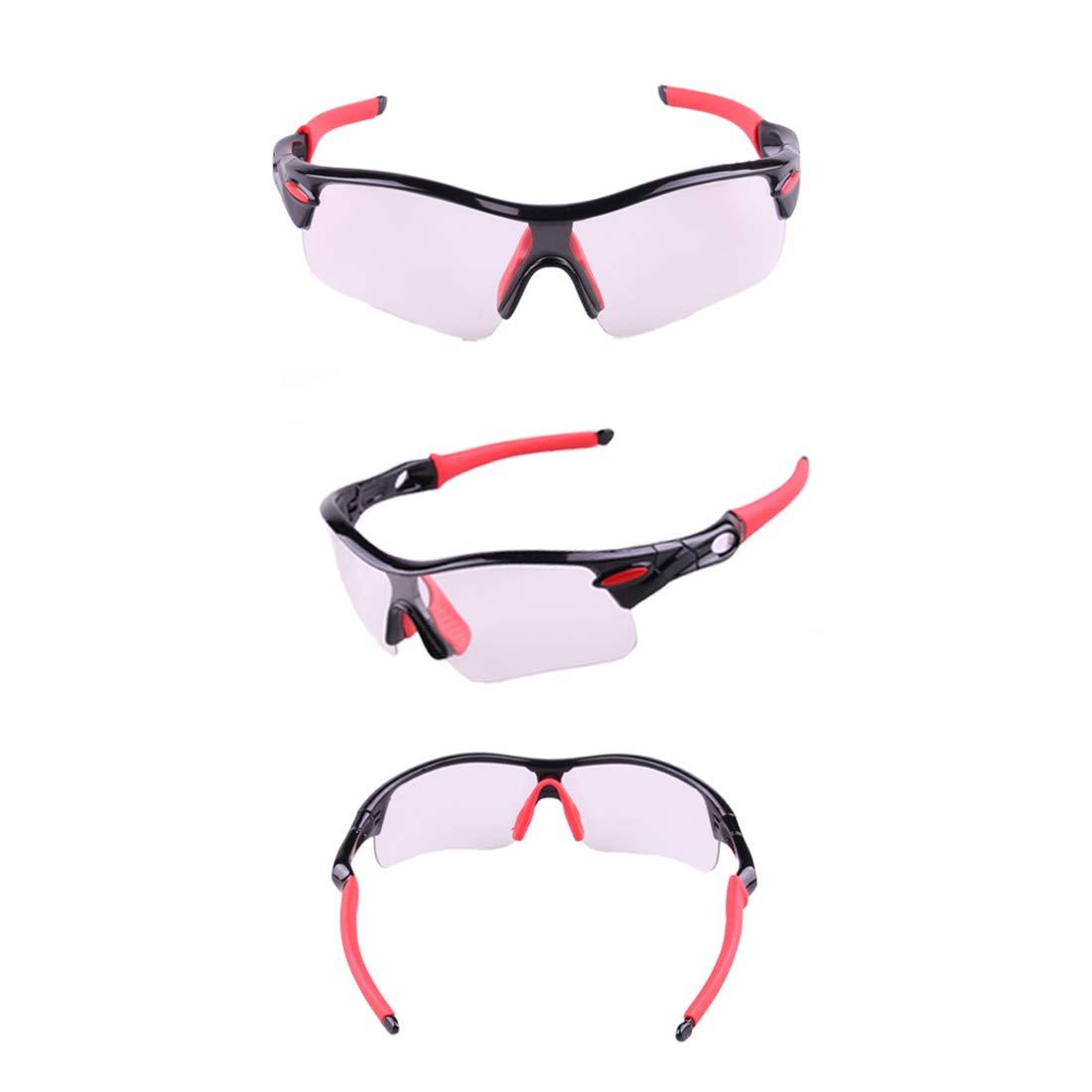 10095f6008 Hemotrade Gafas para bicicletas al aire libre Gafas que cambian de color  Gafas adecuadas para los amantes del ciclismo al aire libre (Color :  Black-Red, ...