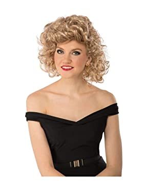 Horror-Shop Grease Bad Sandy Peluca Rubia