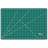 US Art Supply 12 x 18 inch GREEN/BLACK Professional Self Healing 5-Ply Double Sided Durable Non-Slip PVC Cutting Mat Great for Scrapbooking, Quilting, Sewing and all Arts & Crafts Projects (Choose Green/Black or Pink/Blue Below) by US Art Supply