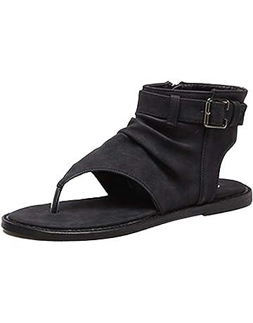 ca48db087ed Women s Flat Ankle Zipper Sandals