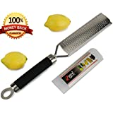 Lemon Zester and Cheese Grater, No-slip Foot, Very Sharp - Made From Stainless Steel By Zesty