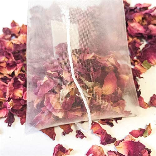 Moligh doll 1000Pcs5.5 X 7Cm Pyramid Tea Bag Filter Nylon Tea Bag Single String Label Transparent Empty Tea Bag