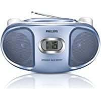 Philips AZ102N Portable BOOMBOX Sound machine CD Player with AM/FM Radio - BLUE AZ102N/98