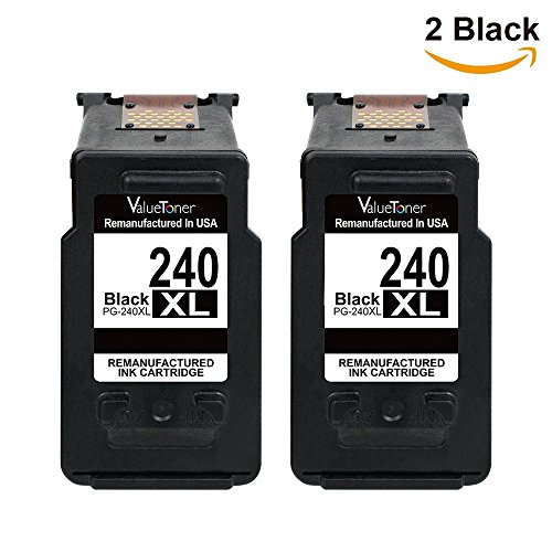Valuetoner MG3620, Remanufactured Ink Cartridge Replacement PG-240XL 240XL High Yield (2 Black) for Pixma MX532 MG2120 MG2220 MG3120 MG3122 MG3220 MG3222 MX432 MG3520 MX452 MX512 Printer Photo #5