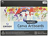 Canson Plein Air Canva Rigid Art Boards for Paints or Sticks, Oil and Acrylic, 9 x 12 Inch, Set of 10 Boards