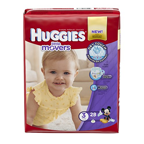 Huggies Little Movers Diapers - Size 3 - 28 ct