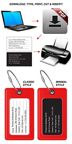 Luggage Tags TUFFTAAG, Business Card Holder, Suitcase Labels, Travel Accessories by ProudGuy (Image #5)