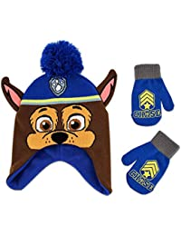 Boys' Toddler Paw Patrol Character Scandi Hat and Mittens...