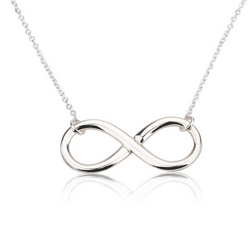 double necklace symbol infinity silver sign