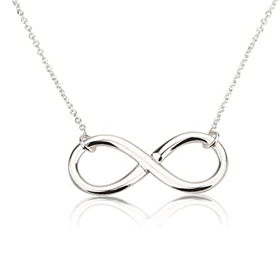 Amazon infinity pendant sterling silver infinity necklace 14 infinity pendant sterling silver infinity necklace 14 inches mozeypictures Gallery