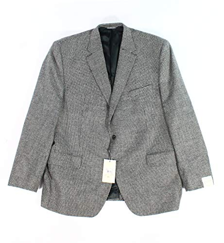 Jack Victor Two Button - Jack Victor Mens 48R Two Button Wool Sport Blazer Black 48