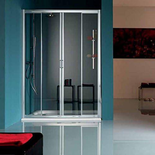 Samo Spa – Box America/Up Puerta deslizante a 4 puertas Samo 145 – 152 b6845 ulust cromo cristal estampado: Amazon.es: Bricolaje y herramientas