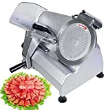 VEVOR Commercial Meat Slicer 10 Inch Electric Food Slicer 240W Heavy Duty Meat Slicer for Beef Venison Mutton Turkey (10 inch Blade)