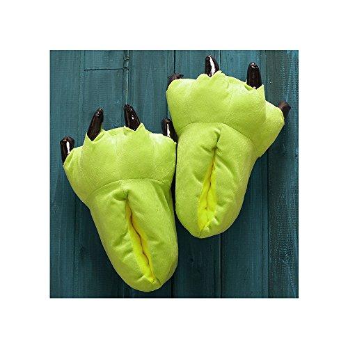 OCHENTA Estampados de animales / Invierno Unisex Espesar Calido Zapato Zapatilla Verde