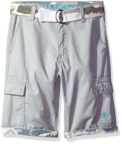 U.S. Polo Assn. Boys Twill Cargo Short with Camo Belt