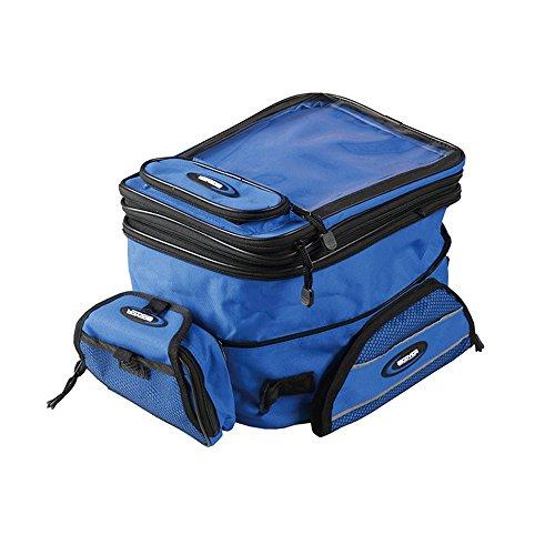 Motorrad-Sturzhelm Tasche Magnetischer Kraftstoff-Tankrucksack Wasserdicht Multifunktions-Bike Bag Schulter- / Gürteltasche für Männer / Frauen Blue