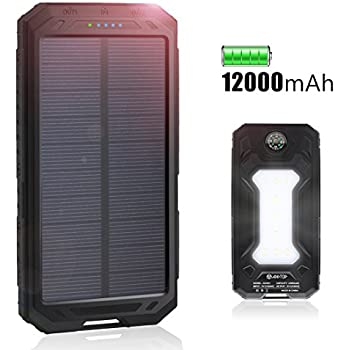 Amazon Com Solar Charger 12000mah Portable Charger