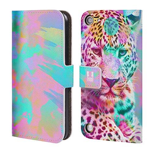 Head Case Designs Leopardo Trend Mix Cover a portafoglio in pelle per iPod Touch 5th Gen / 6th Gen