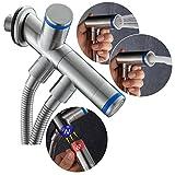 CIENCIA Magnetic Suction Hand Held Bidet Sprayer Stainless Steel Sprayer Shattaf - Complete Bidet Set for Toilet, Hand Bidet Sprayer for Toilet WS031F