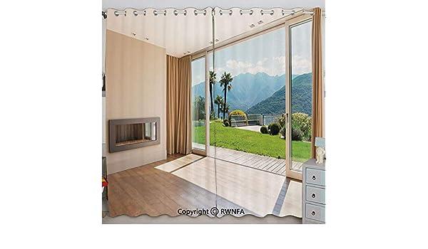 Justin Harve - Juego de 2 cortinas opacas con aislamiento térmico ...