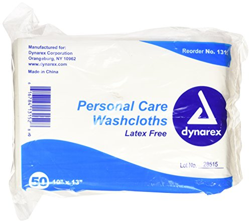 Dynarex Dry Disposable Washcloth, 50 (Dry Washcloths)