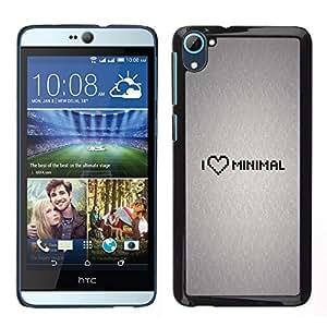 EJOY---Cubierta de la caja de protección la piel dura para el ** HTC Desire D826 ** --Amo Mínimo