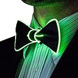Neon Nightlife Light Up Bow Tie for Men, Green