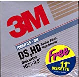 "3M DS,HD 11 Double Sided High Density IBM-Formatted 3.5"" Diskettes"