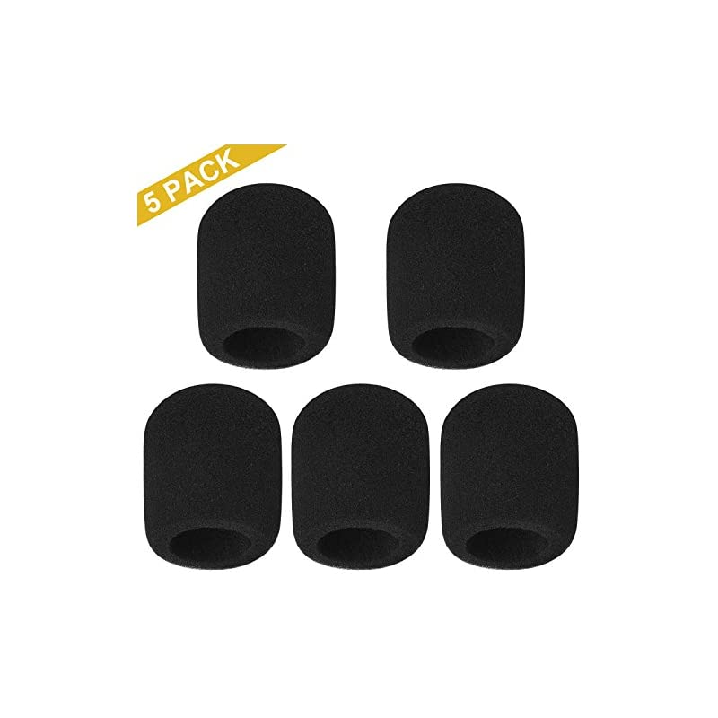 (5 Pack) Thicken Microphone Windscreen,