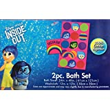 2 Piece Bath Set with Bath Towel and Washcloth (Inside Out)
