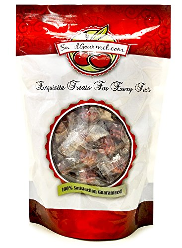 Sweetgourmet Primrose Wrapped Filled Red Raspberries Candy, 1 lb