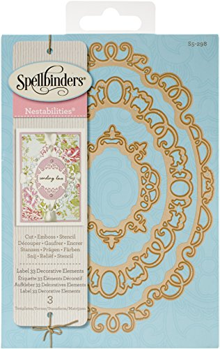Spellbinders Nestabilities Classic Label 33 Etched/Wafer Thin Dies