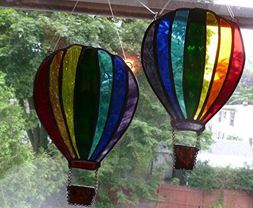 Stained Glass Rainbow Hot Air Balloon