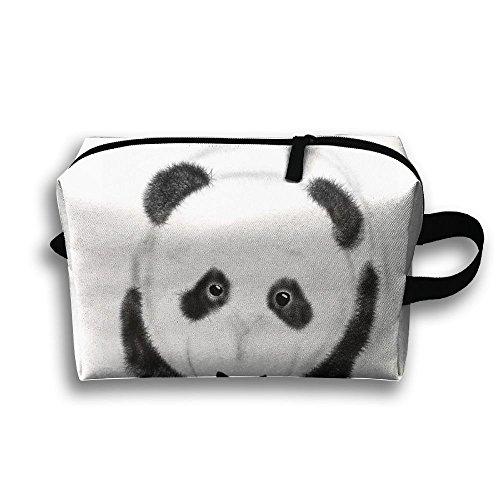 Panda Baby Travel Bag Cosmetic Bags Brush Pouch Portable Makeup Bag Zipper Wallet Hangbag Pen Organizer Carry Case Wristlet -