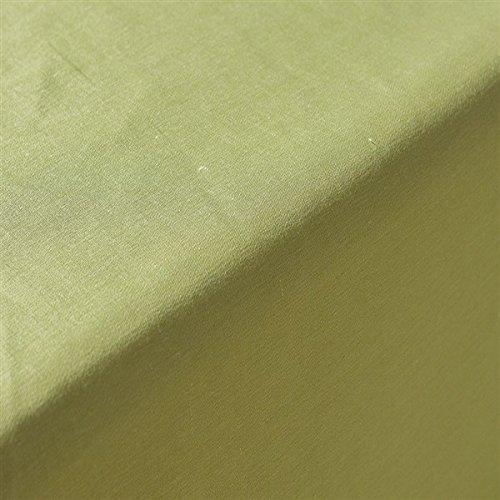 ADONIE – Tovaglia Modello Hermes, 50% lino 25% cotone 25% Poliestere, Lavabile in Lavatrice (220  220) verde Tinta Unita