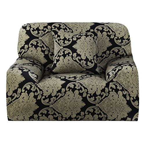 uxcell 1 2 3 4 Seater Sofa Covers Sofa Slipcovers Protector Elastic Polyester Spandex Fabric Featuring Soft Form Fit Couch Covers With One Free Cushion Case #13 (35 x 55 - Sofa Back Seater Cushion