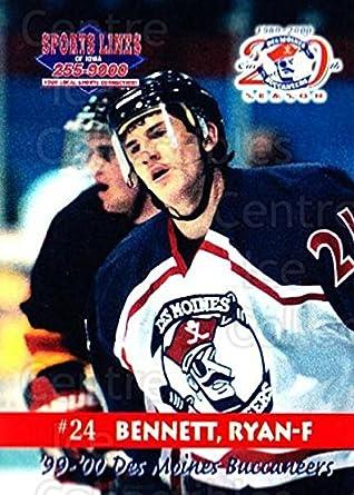 Amazon Com Ci Ryan Bennett Hockey Card 1999 00 Des Moines