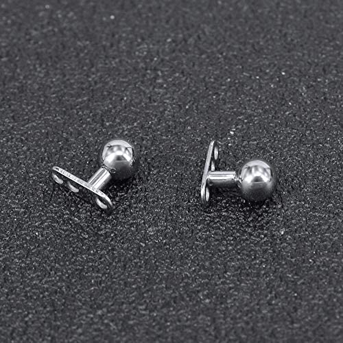 ZS 8PCS 14G Surgical Steel Dermal Piercing Anchor Top and Base Hypoallergenic Microdermal Body Piercing
