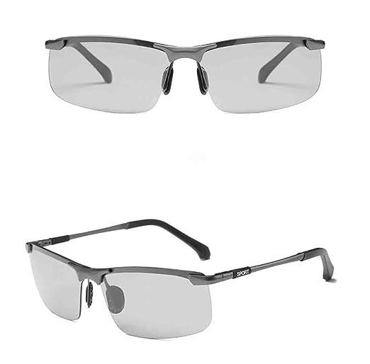 5b19f29648 ZHMIAO Gafas De Sol UV Polarizadas Para Hombre Gafas De Sol Graduadas Con  Sensibilidad Inteligente Gafas