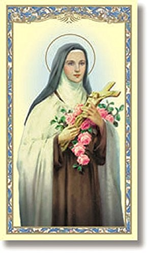 St Therese Holy Card with Full Color Image and Prayer, 20 Pack