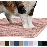 Gorilla Grip Original Premium Durable Cat Litter Mat (35x23), XL Jumbo, No Phthalate, Water Resistant, Traps Litter from Box & Cats, Scatter Control, Soft on Kitty Paws, Easy Clean Mats (Light Pink)