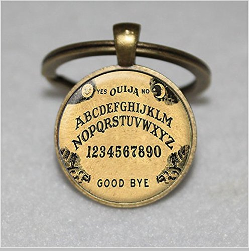 ,Fine Art Keychain,Everyday Gift Key Chain,Unique Key Ring Customized Gift (Handcrafted Ouija Board)