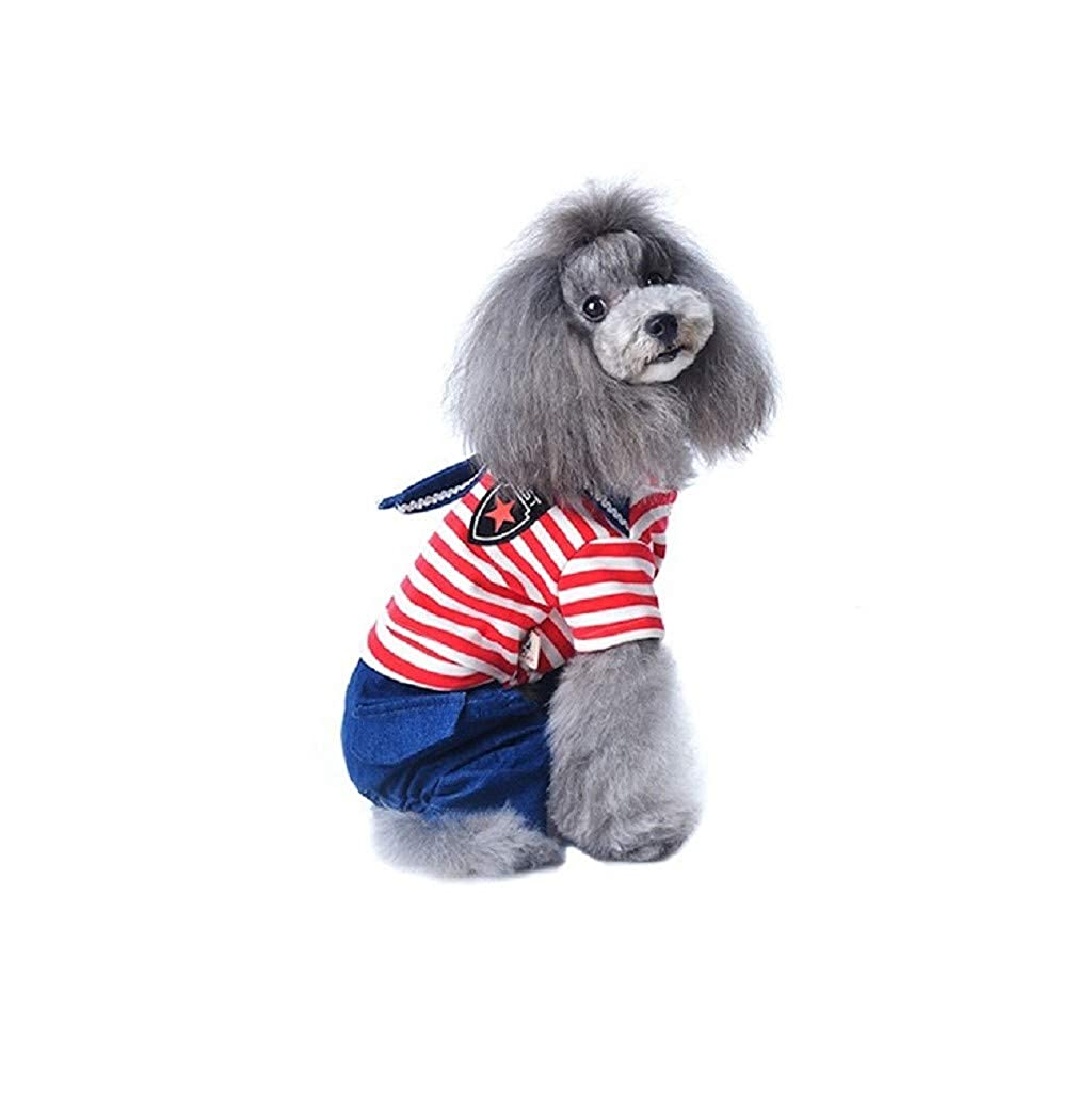 73436c5bb078 Boomboom Pet Clothes Thin Cute Blue Striped Jeans Princess Skirt For Small  Dogs Cats For Summer  Amazon.in  Clothing   Accessories